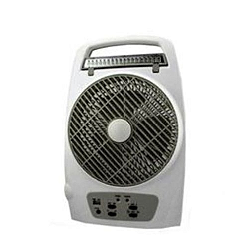 Rechargeable Table Fan With Lamp And USB