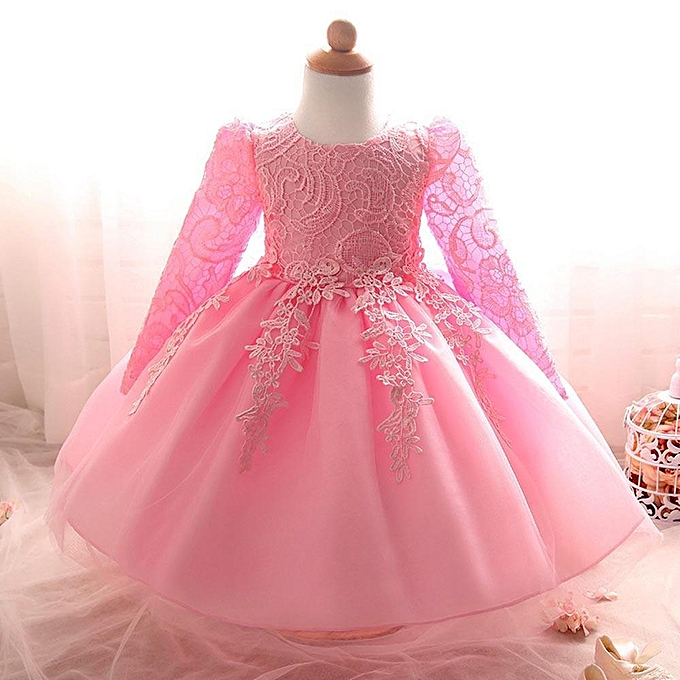 Fashion Flower Baby Girl Princess Bridesmaid Pageant Gown Birthday