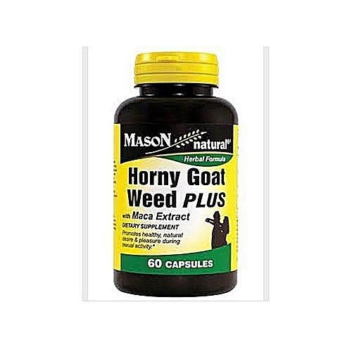 Horny Goat Weed Plus With Maca Extract 60 Capsules