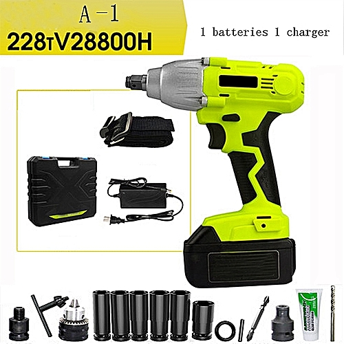 Electric Wrench Car Repair Power Tool Cordless Drill Torque Wrench Battery Puncher Impact Wrench Electric Tools Screwdriver