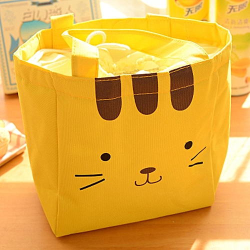 Oxford Cloth Thermal Insulation Lunch Bag Cartoon Portable Travel Picnic Food Container