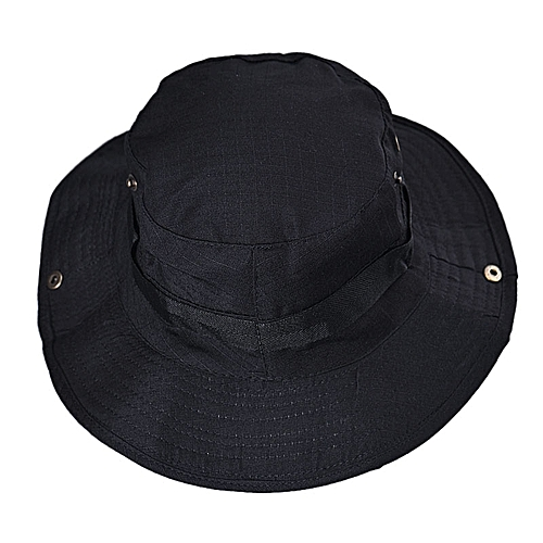 bb044f07d9b Eissely Bucket Hat Boonie Hunting Fishing Outdoor Wide Cap Brim Military BK