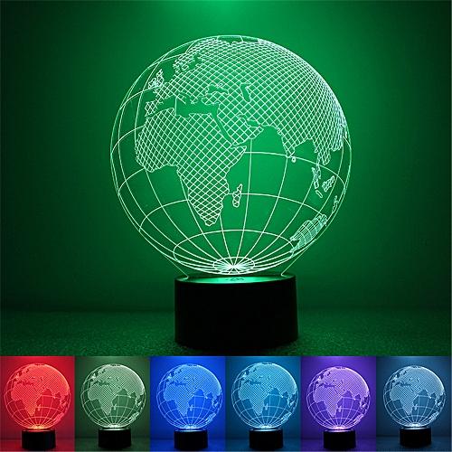 Personality Globe Colorful Night Light USB Powered Lighting