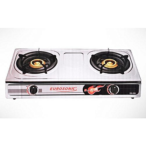 Double Burner Stainless Table Top Gas Cooker