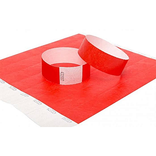 100pcs/paper Wristband For Events/security /Gate Pass