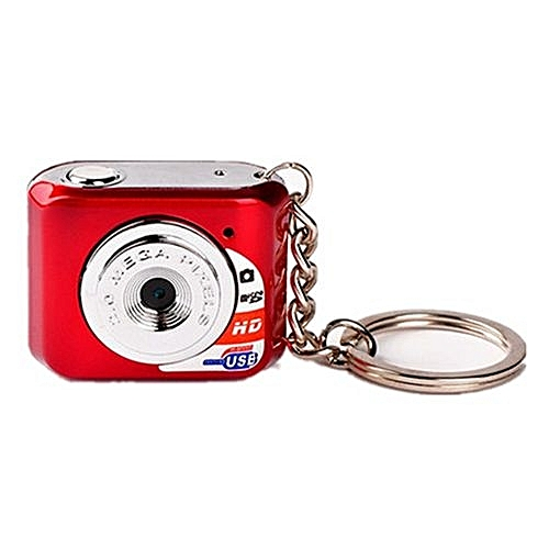 DOITOP Mini HD Camera Ultra Portable Keychain Camera X3 Video Recorder Digital Small Camera DV 480P DV DVR Driving Recorder-Red