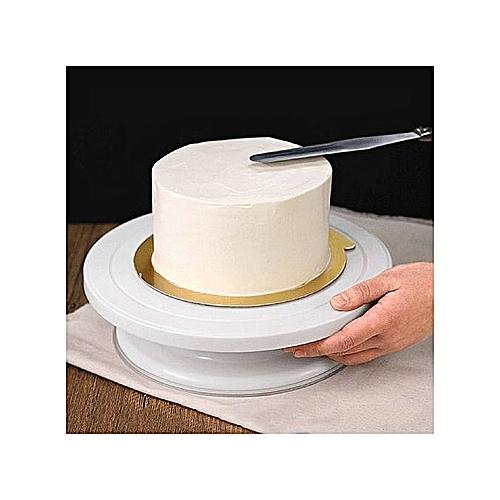 Plastic Round Cake Stand Turntable Rotating Cake Decorating Turntable