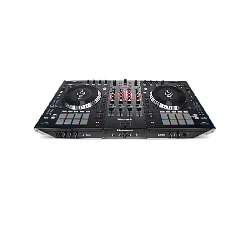 NS711 4-Channel Motorized DJ Controller And Mixer - Black