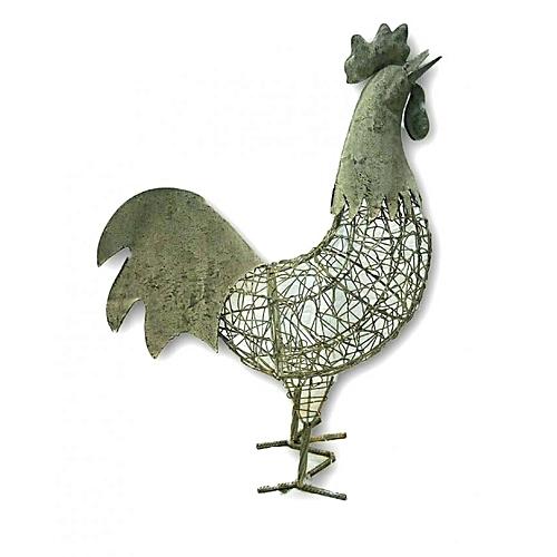 Metal Standing Cockrel