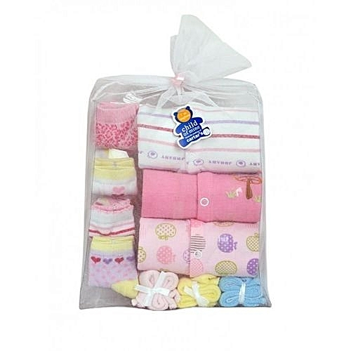 Baby Girl Body Suit Sets + 4 Socks + 3 Small Towels