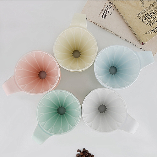 Petal Type Ceramic Cone Pour Over Coffee Percolator Filter 1-4 Cups