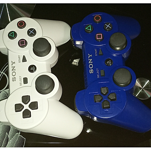 PS3 Wireless Pad - Blue And White