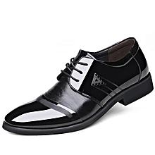 Men Shoes PU Leather Office African Style Spring Autumn Winter Summer Creative Trend Splice Frenulum Black