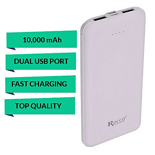 10,000mAh Fast Charging (Dual USB Port) Power Bank - With Additional Type-C Port And Power Display Indicator