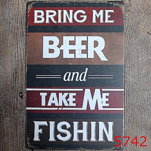 3PCS Bar Cafe Wall Decor Tail Beer Metal Poster Tin Sign Wall Hanging Home Decor