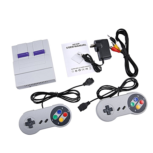 Family Recreation Video Game Console 8 Bit Dual Gamepad Gaming Player Handheld White&grey AU