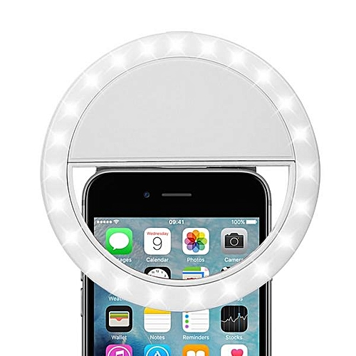 Rechargeable LED Selfie Ring Light With Inbuilt Battery For Phones & Tablets