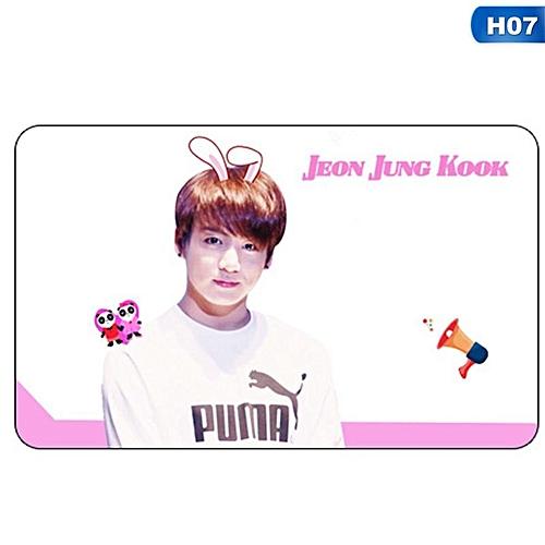 Kpop BTS Bangtan Boys PVC Transparent Small Card H07