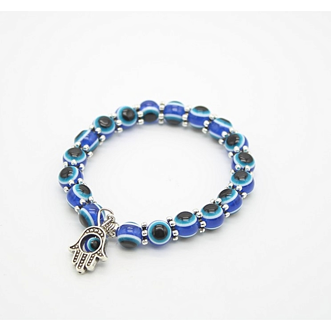 Charm Evil Eye Bead Protection Good Luck Bracelet Jewelry Hamsa Hand Blue Black Friday Sale
