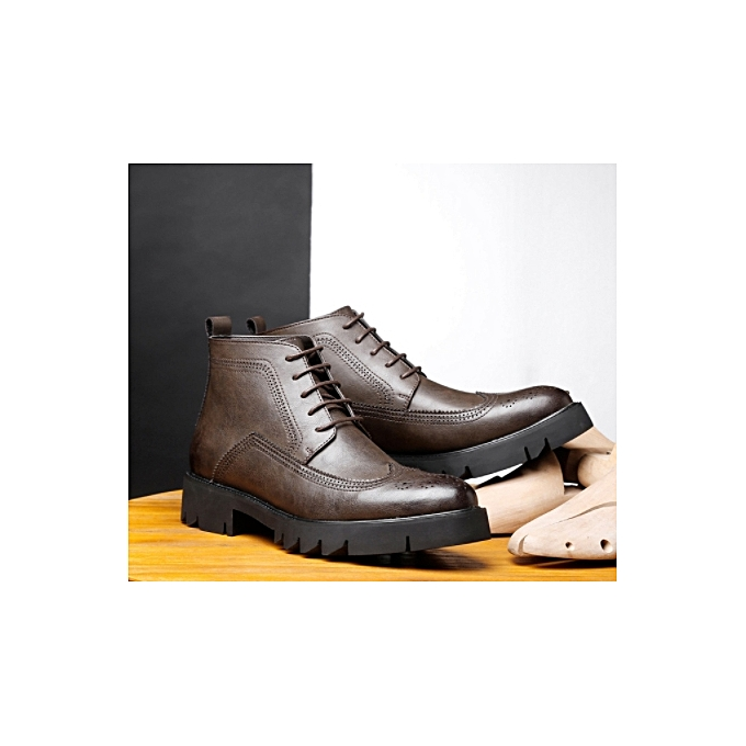 a848929811dec 2018 Autumn Winter New Style Men s Boots Brit Round Head Men s Casual Shoes  Trend High Up