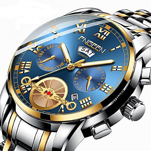 Mens Watches Fashion Casual Sport Men Quartz Watch - Brown