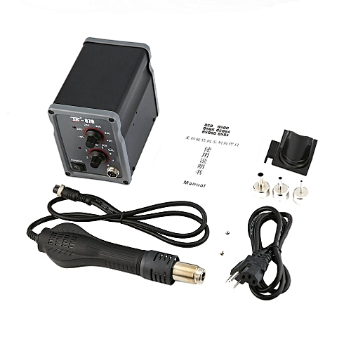 TAIKD 700W Rework Soldering Station Hot Air Blower Heat Gun Repair Tool Black