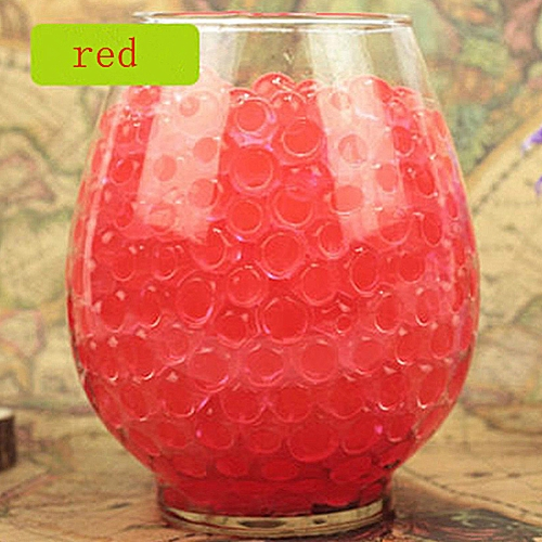 Pack Of 100 PCS Wedding Crystal Water Bubble Bead Used For Sensory Toys And Décor (Red)