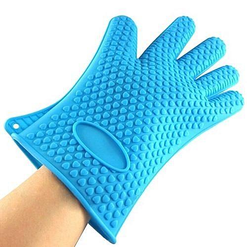 Silicone Kitchen Heat Resistant Glove Blue -1pc