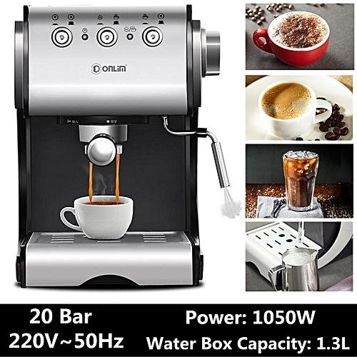 Coffee Machine DL-KF500S Semi Automatic Coffee Maker Barista Espresso Machine Steam Home Use