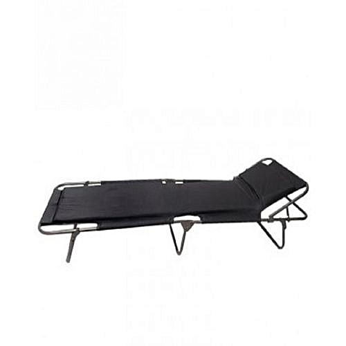 Foldable Camp Bed - Colour May Vary
