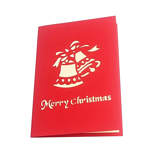 Christnas 3D Pop Up Festival Greeting Cards Merry Trees Shape Invitations Card