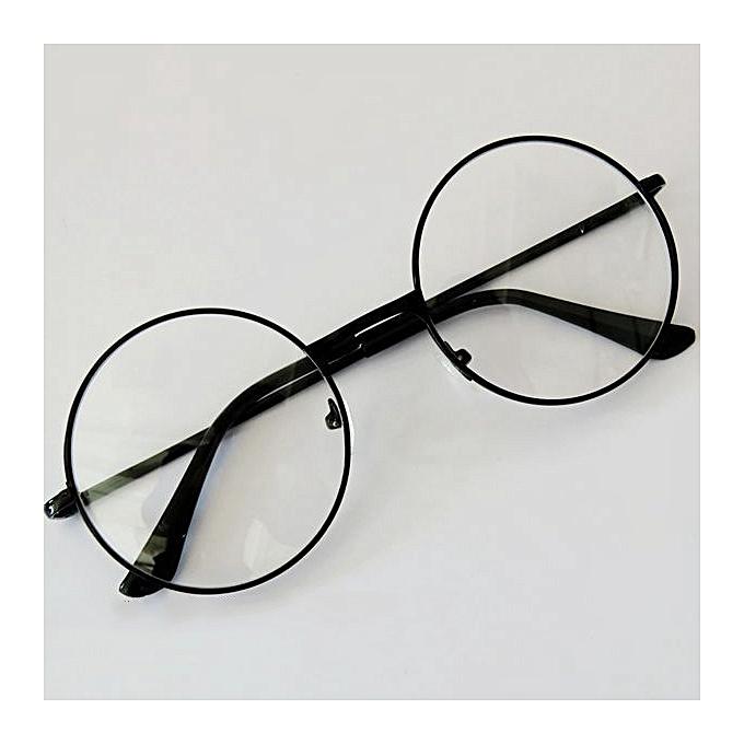 f70fd5d14a9 Generic Retro Round Circle Metal Frame Eyeglasses Clear Lens Glasses Men  Women