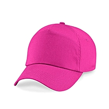 Plain Pink Baseball Face Cap 5346fc3df156