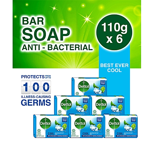 Best Ever Cool Anti-bacterial Soap 110g - Pack Of 6