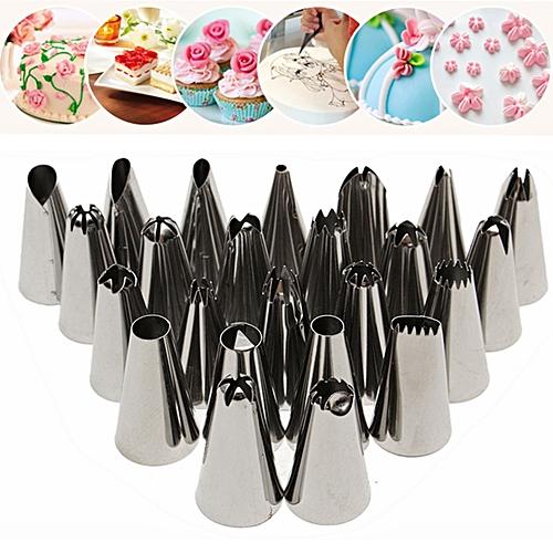 48Pcs Icing Piping Nozzles Pastry Tips Cake Sugarcraft Decorating Baking Tool