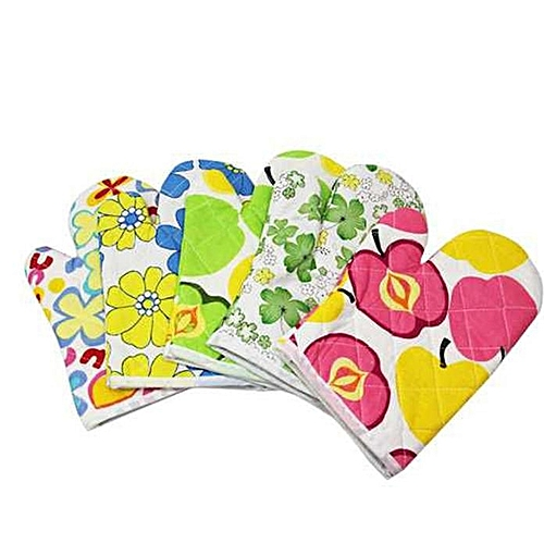 Watermalend Cooking Cotton Microwave Oven Gloves Mitts Pot Pad Heat Proof Protected