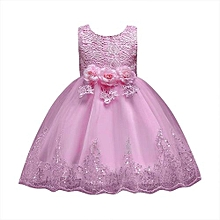 b2a65e3fcfc Floral Baby Girl Princess Bridesmaid Pageant Gown Birthday Party Wedding  Dress Musiccool
