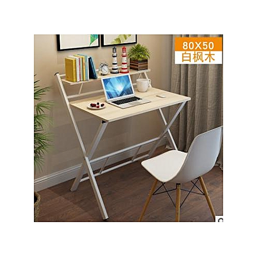 2- Layer Folding Computer Desk Compact Students Studying Table For Home Office