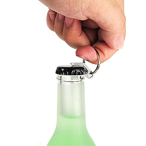 Titanium Alloy Creative Mini Opener Stainless Steel Multi-function Keychain Outdoor EDC Gadget