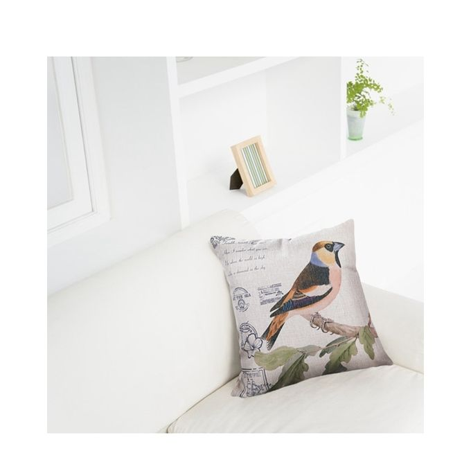 Throw Pillow Jumia : Ovonni Q284 - Oriole Postcard-1 18 Inch Square Linen/Cotton Throw Pillow Buy online Jumia ...