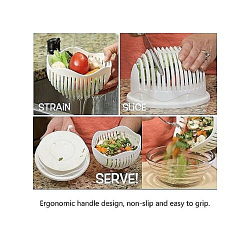 Salad Cutter Bowl Fruit Vegetable Washer And Cutter