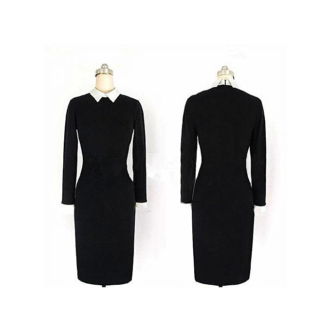 9515ba66644 ... Women Elegant Office Dress Summer Dresses Wear To Work Sheath Bodycon  Dress Work Dresses-black ...