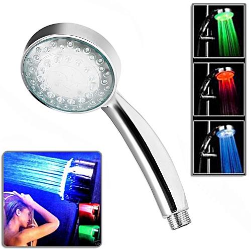 LED Temperature Control 3 Colors Light Bathroom Hand Shower Head