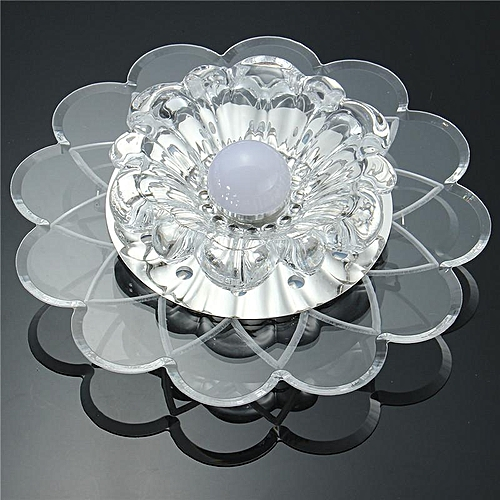 2PCS Crystal 5W LED SMD 5730 Lotus Ceiling Mounted Light Fixture Hall Porch Cafe Lamp White