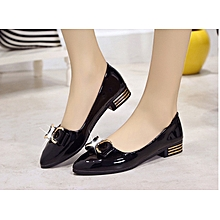 1b14ee4097e Women Low Pump Patent Leather Female Ladies Shoes-Black