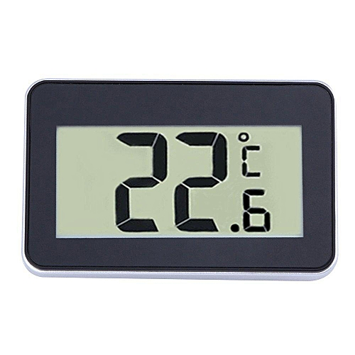 Refrigerator Thermometer, Digital Waterproof Freezer Room Fridge Thermometer, Max/Min Record Function With Large LCD Display, Perfect For Home, Restaurants, Bars, Cafes