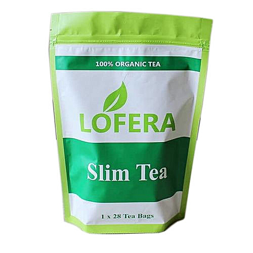 Organic Slimming Tea; 28 Days Detox, 100% Natural With Lotus Leaf, Cassia Seed, Mulberry, & Green Tea