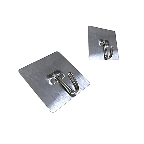 Self Adhesive Stick Wall Hooks For Bathroom And Kitchen 2pcs