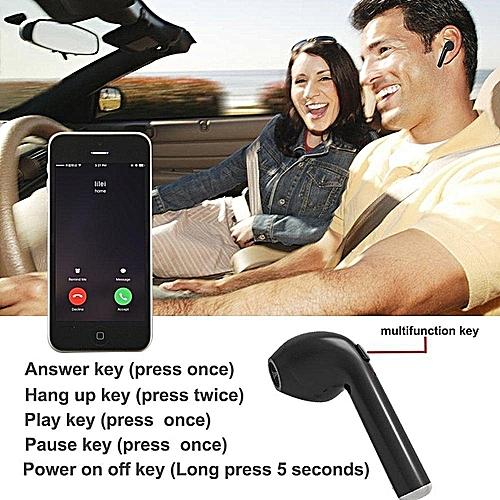 Wireless Headphones Bluetooth Earphones I7 Module Single Ear Mobile For IPhone Android Smartphone