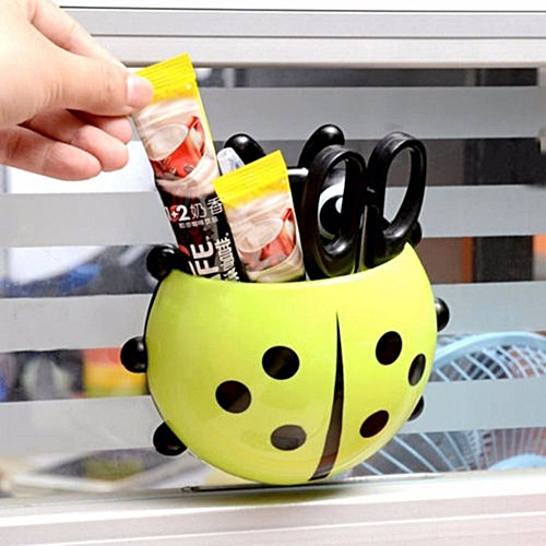 Lady Bug Toothbrush And Toothpaste Holder - Yellow